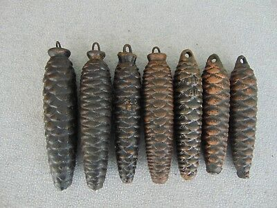 7 German Cuckoo Clock Pine Cone Weights Weight Lot Clock Parts
