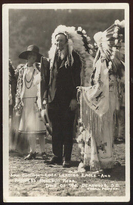 1920S Deadwood, S.d. Rppc, President & Mrs. Coolidge At Indian Reservation