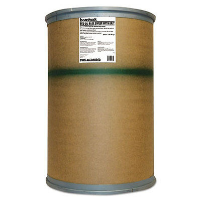 Boardwalk Oil-Based Sweeping Compound Grit Red 300lbs Drum A6COHORED