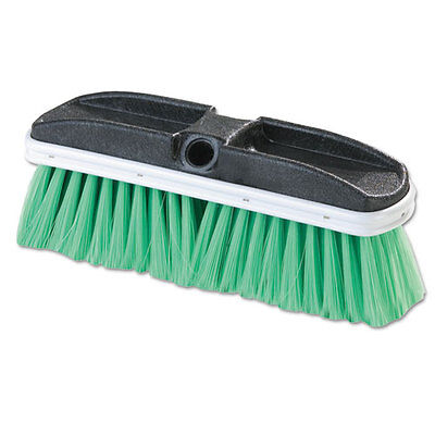 "Flo-Pac Vehicle Brush Nylex Green Bristles 10"" 2 1/2"" Bristles 3646875"