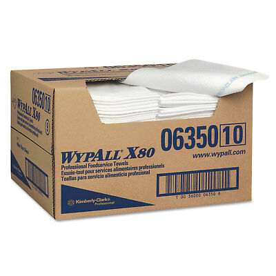 WypAll X80 Foodservice Paper Towel, Spunlace, 13 1/2 x 24, White, 150/Carton