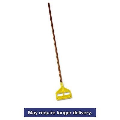 "Rubbermaid Commercial Invader Wood Side-Gate Wet-Mop Handle 54"" Natural/Yellow"
