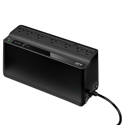 APC Smart-UPS 600 VA Battery Backup System 7 Outlets 490 J BE600M1