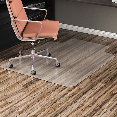 """Alera Non-Studded Chair Mat for Hard Floor 45"""" x 53"""" with Lip Clear MAT4553HFL"""