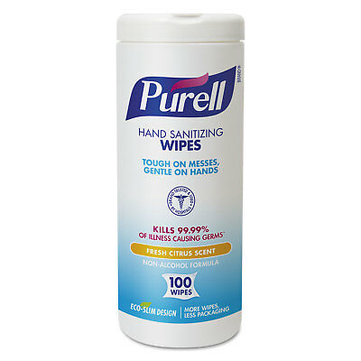 PURELL Hand Sanitizing Wipes 5 7/10x7 1/2 Fresh Citrus Scent 100/Canister 4
