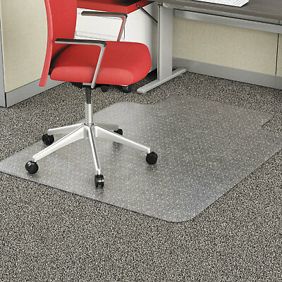 """Alera Studded Chair Mat for Flat Pile Carpet 36"""" x 48"""" with Lip Clear"""