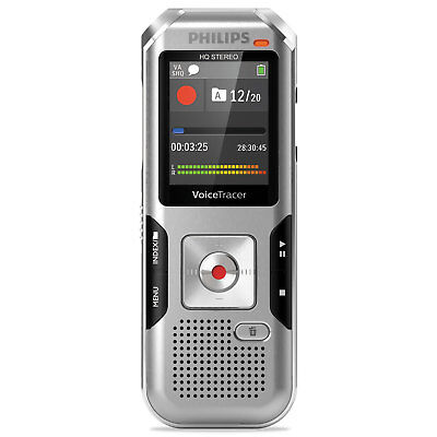 Philips Voice Tracer 4010 Digital Recorder 8 GB Silver DVT4010