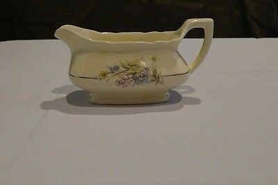 W.S. George China Lido, Canarytone, Floral Bouquet, Gravy Boat