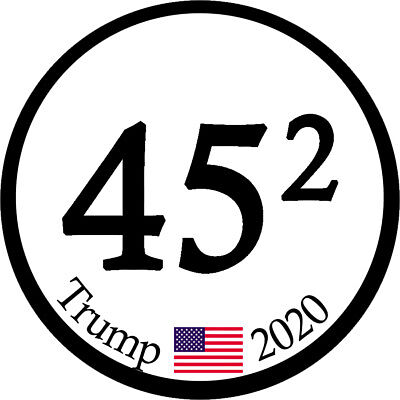 "Trump Supporter "" 45 Trump 2020"" Conservative Political Bumper Sticker #006"