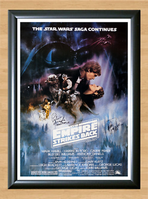 Star Wars The Empire Strikes Back Signed Autographed A4 Photo Poster Memorabilia