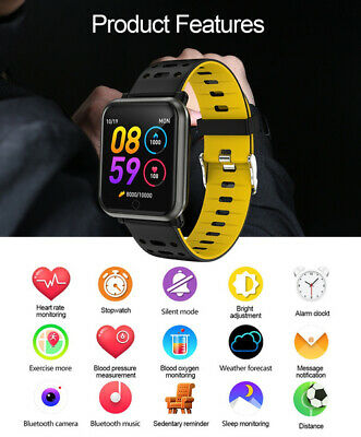 Bluetooth GPS Smart Watch Heart Rate Fitness Tracker Waterproof Pedometer iPhone