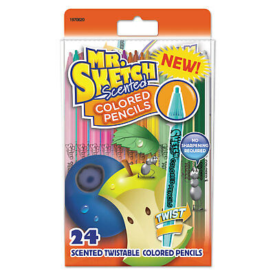 Mr. Sketch Scented Colored Pencils Assorted School Grade 24/Pack 1970620