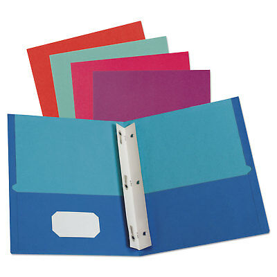 Oxford Twisted Twin Smooth Pocket Folder w/Fasteners Letter Assorted 10/PK 20 PK
