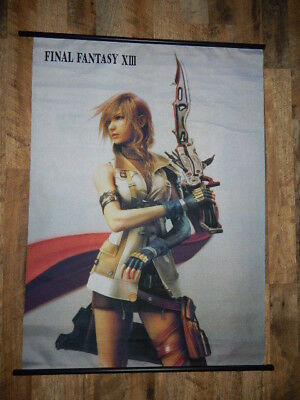 2009 Final Fantasy XIII Promo Fabric Wall Scroll Poster Art 31x43 - ULTRA RARE
