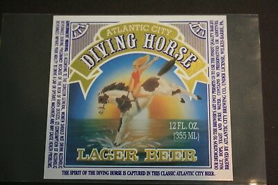 Atlantic City Brewing Co, Diving Horse Beer label