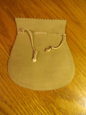 """Vintage Genuine Suede Leather Tan Pouch Bag Made In Italy Approx 5"""" X 4&1/2"""""""