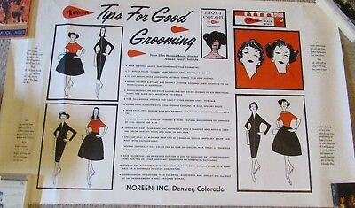 "Giant Vintage 1950's Noreen Baum Beauty Institute Advertising Poster, 33"" x 50"""
