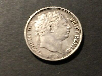 United Kingdom 1818 Silver Six Pence King George III