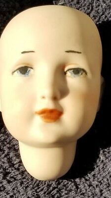 """One Bisque Porcelain Antique Repro K*R Germany DOLL HEAD 2.5"""" 109 NO"""