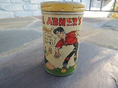 """Li'l Abner's """"Can O' Coins"""" Bank 1953 It Sho' Pays To Save - Li'l Abner etc."""
