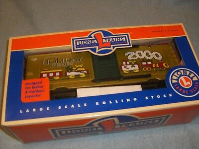 Lionel Large Scale 2000 Holiday Wishes Gold Boxcar #8-87018