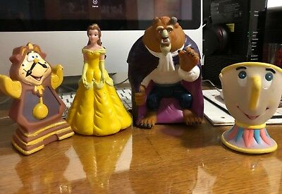 Beauty and the Beast plastic figures toys Belle Codsworth Chip