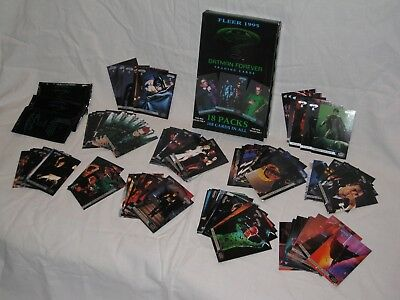 1995 FLEER Batman Forever Trading Cards 113 total w/Box & 3 Wrappers