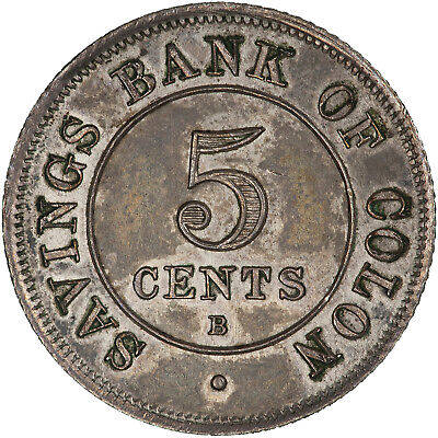 Colombia (Colon, now Panama) 1885 5 Centavos ABOUT UNC, VERY SCARCE TOKEN!