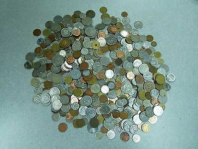 5 LB Of Mixed World Foreign Coin BONUS- Silver Sixpence Included
