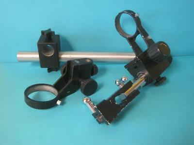"Lot of Unbranded Microscope Stand Parts Mount Boom Arm 3"" 3 3/8"" Heavy Duty Lab"