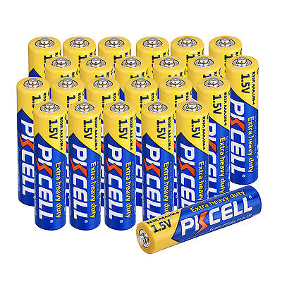 PKCELL 24 PCS AAA Carbon-Zinc Battery R03P UM4 1.5V Super Heavy Duty Batteries
