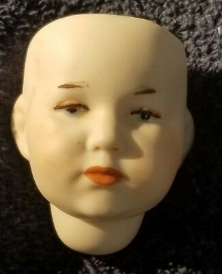 """One Bisque Porcelain Antique Repro K*R Germany DOLL HEAD 2.5"""" 107 NOS"""