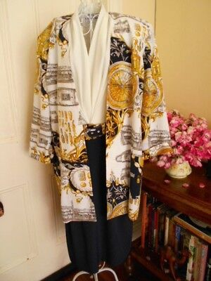 VINTAGE 1908's DRESS & JACKET BY DOLINA BLUE $199.00  CLASSIC PRINT FABRIC