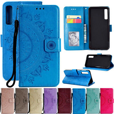 For Samsung Galaxy A7 A6 A8 Magnetic Flip Stand Card Wallet Leather Case Cover