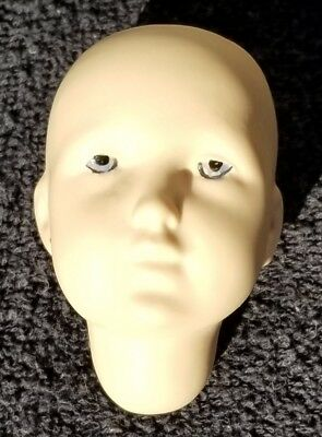 """One Bisque Porcelain Antique Repro K*R Germany DOLL HEAD #109 2.5"""" 1979 SEELEY"""