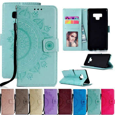 For Samsung Galaxy Note 9 Magnetic Flip Stand Card Wallet Leather TPU Case Cover