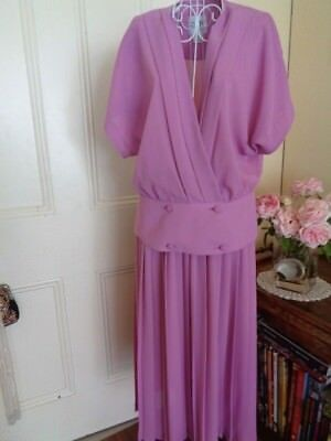 VINTAGE 1970/80's PINK SKIRT & TOP BY SKITE OF MELBOURNE NEW WITH TAGS