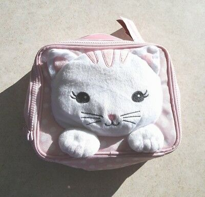 Gymboree Plush Kitty Insulated Lunch Box New Nwt