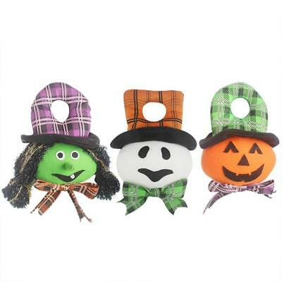 Halloween Cloth Doll Hat Pumpkin Witch Ghost Doll Home Party Bar Decor