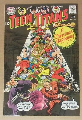 Teen Titans #13 (1968, DC) 6.5...Robin/Wonder Girl/Aqualad...Christmas cover