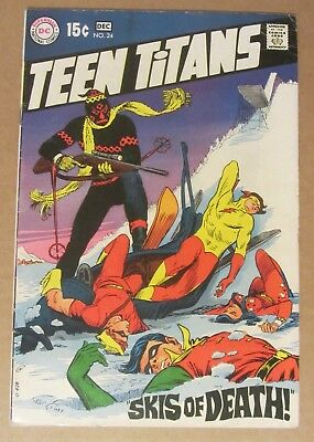 Teen Titans #24 (1969, DC) 6.5...Speedy, Wonder Girl, Robin & Kid Flash app.