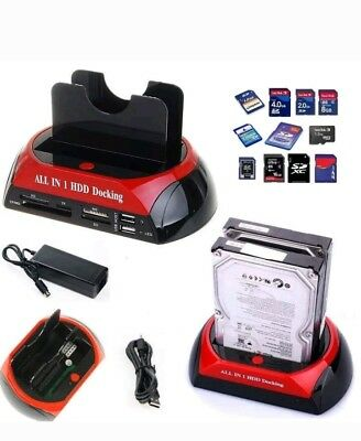 """Docking Station Per Hard Disk All In 1 Sata Ide 3,5"""" 2,5 Player Hdd Box Case"""