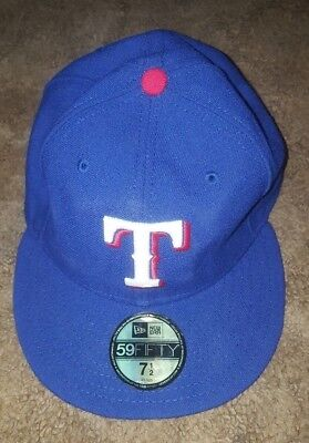 New Era 5950 Youth Texas Rangers  GAME Fitted Hat (Royal Blue) MLB 7 1/2
