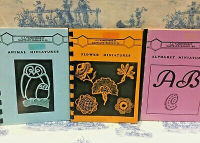 J.J. Vandenhorst Kantklosprodukties x 3 Books on Lace  - Scarce Books - OOP HTF