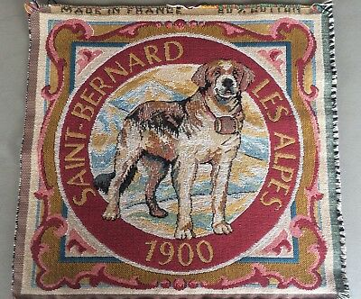 Vintage St Bernard Dog French Tapestry for Pillow Cover of Framing