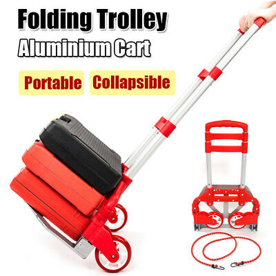 170lbs Aluminium Cart Folding Dolly Push TruckExtend Collapsible Trolley Luggage