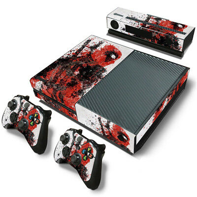 Deadpool Xbox One S 18 Sticker Console Decal Xbox One Controller Vinyl Skin Video Games & Consoles Faceplates, Decals & Stickers