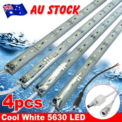 4X12V Waterproof 5630 Led Strip Lights Bars Cool White Camping Caravan Boat Car