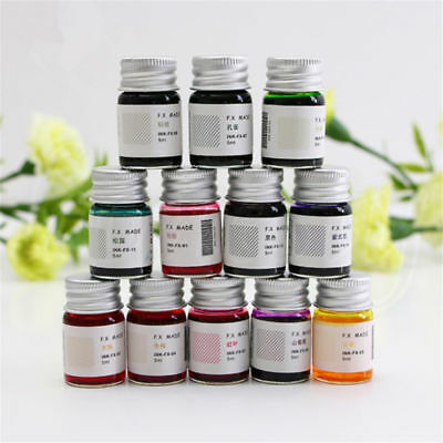 5ML Colored Ink Fountain Dip Pen Signature Calligraphy Writing Painting Graffiti