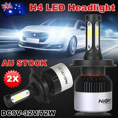 AU Nighteye 72W 9000LM H4 HB2 LED Headlight Kit Hi/Lo Beam Globe Bulbs 6500K ESM